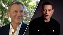 'Am I a Bond Girl?' Rami Malek asked after kissing Daniel Craig on 'Bond 25'