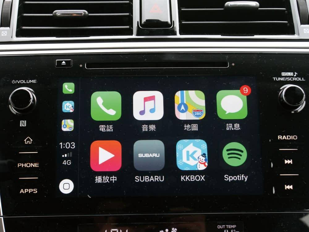 7吋中控台音響系統,且搭載手勢操控螢幕與手機連結功能,並整合各式電子行車配備。