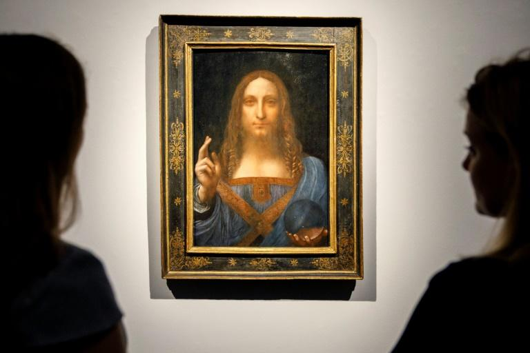 Salvator Mundi has not been seen in public since it was sold for a record 450 million dollars at Christie's in 2017 (AFP Photo/Tolga Akmen)