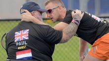 Invictus athlete sings to teammate distressed by sounds of helicopter
