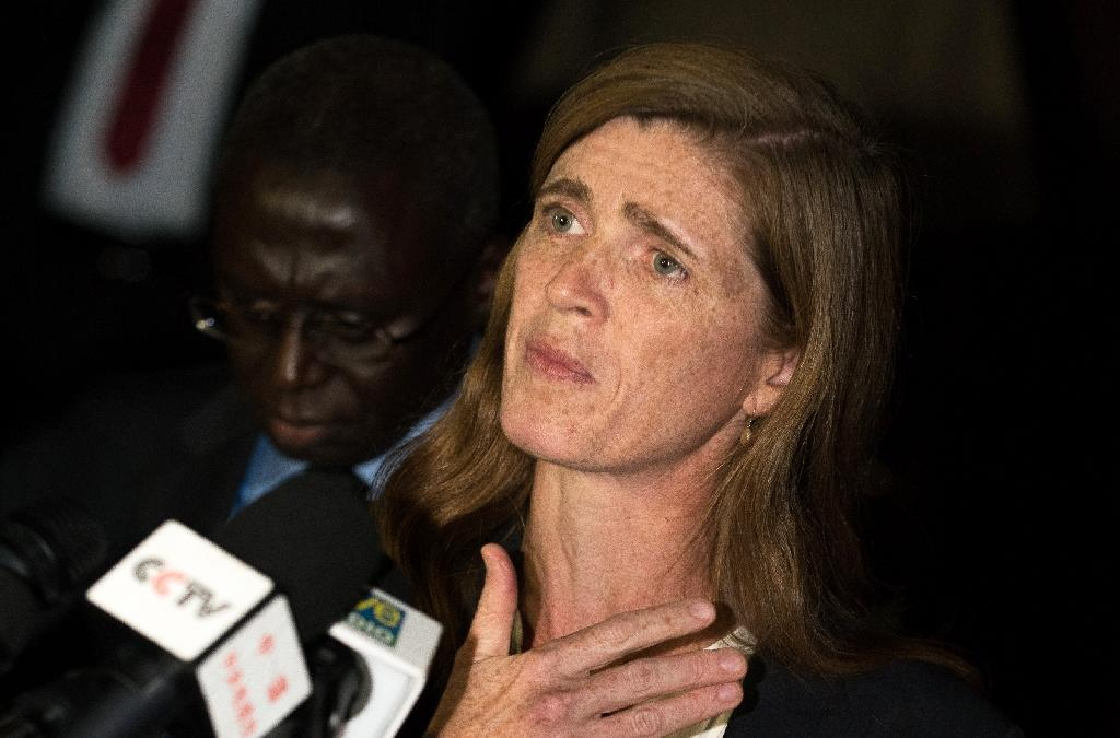 """US Ambassador to the UN Samantha Power described Russia's request for an emergency Security Council meeting over a strike on a Syrian army post as a """"stunt"""""""