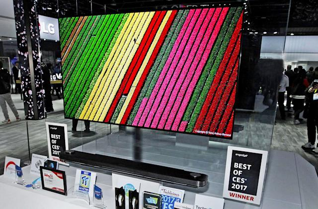 LG's 77-inch Wallpaper TV is selling for the low, low price of $20k