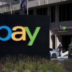eBay shares sink; IBM leads Dow; Tesla drops on downgrade; Microsoft earnings on tap