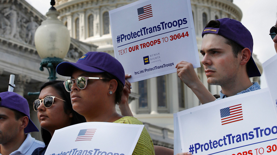 Trump's partial military ban on transgenders to take effect