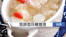食譜搜尋:馬蹄雪耳鵪鶉湯