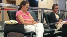 Mom Shamed For Viral Airport Photo Speaks Out