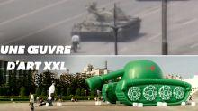 Un tank gonflable géant pour commémorer les 30 ans du massacre de Tiananmen