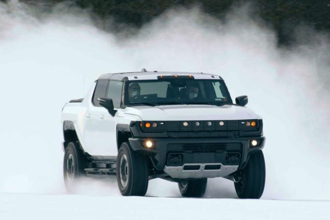 GMC Hummer EV in sub-zero winter testing