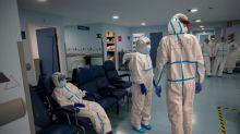 Un hospital en Madrid, sumergido bajo la segunda ola de covid-19