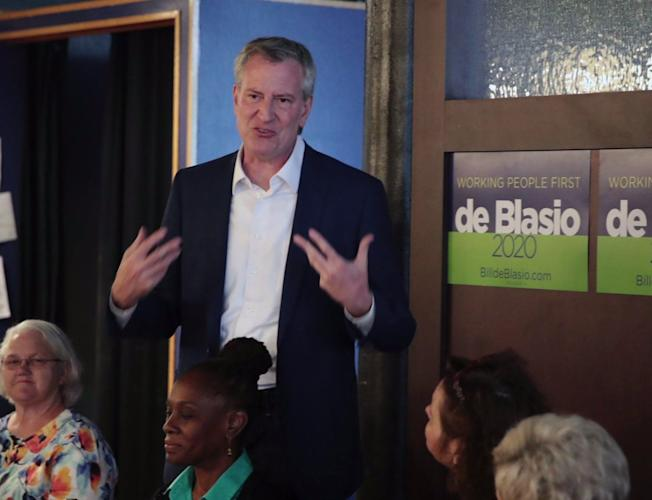 Bill De Blasio`s Security Detail Getting Overtime Pay as NYC Mayor  Campaigns for President