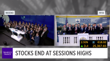 Stocks finish higher after Powell remarks