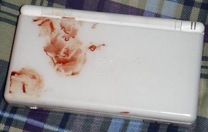 Limited edition blood-covered DS Lite