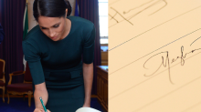 Meghan Markle's Signature Is So Much Fancier Now That She's a Duchess