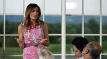 Melania and Ivanka Trump twin in floral dresses from Monique Lhuillier and Roland Mouret