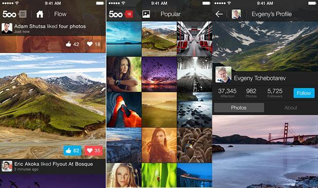 500px photo-sharing app gets iOS 7 update, new looks and features