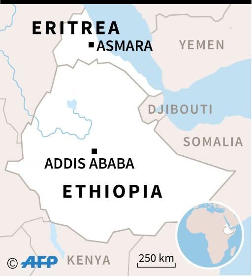 Map of Ethiopia and Eritrea (AFP Photo/Kun TIAN)