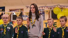 Kate Middleton has the best day out with young Scouts – see photos