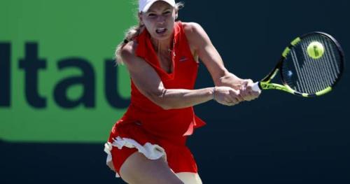 Tennis - WTA - Miami - Caroline Wozniacki est en finale à Miami après avoir battu Karolina Pliskova