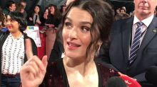 Rachel Weisz can't believe she wore the same thing as her co-stars at The Favourite UK premiere