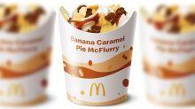 Macca's releases Banana Caramel Pie McFlurry