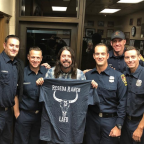 Dave Grohl fires up the barbecue to help L.A. firefighters