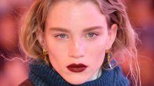Gothic revival: burgundy lips for autumn