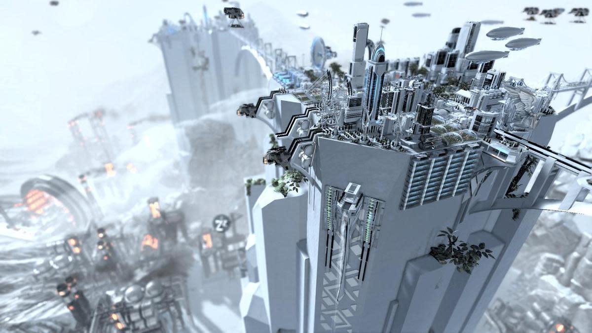在核災之後,地球變成一片雪白(圖片來源:官方)
