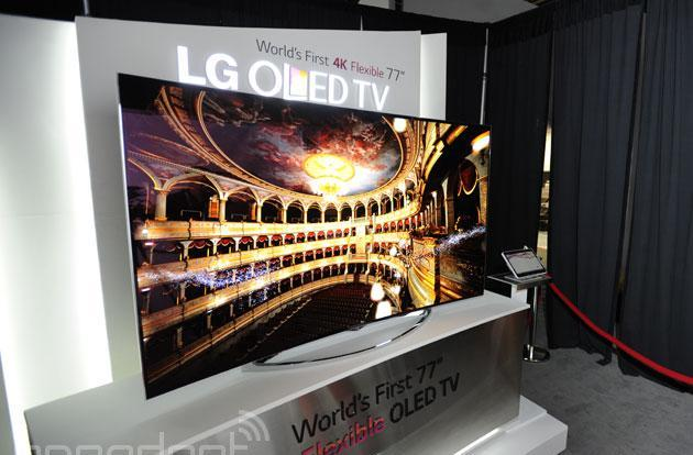 Take that Samsung: LG's got a 77-inch OLED UHD TV that bends on command (video)
