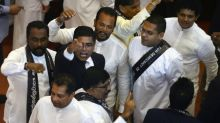 Punch-up in Sri Lankan parliament
