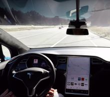 Watch Tesla's New Self-Driving Car System In Action