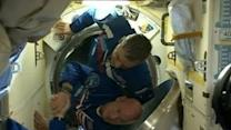 Astronauts Begin Year in Orbit as Soyuz Docks With ISS