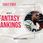Fantasy Football Week 3 Rankings: Tight end