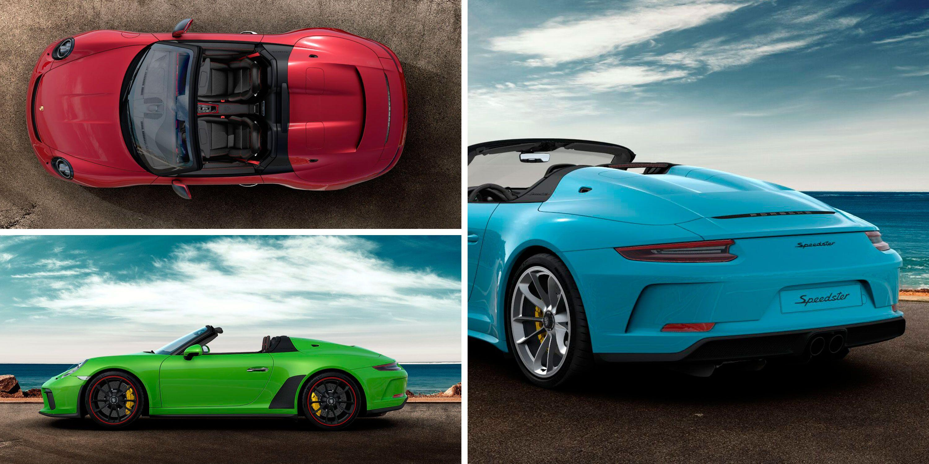 """<p><a href=""""https://www.caranddriver.com/news/a27170789/2019-porsche-911-speedster-photos-info/"""" rel=""""nofollow noopener"""" target=""""_blank"""" data-ylk=""""slk:Porsche's 911 Speedster"""" class=""""link rapid-noclick-resp"""">Porsche's 911 Speedster</a> is here, and like its humpbacked forebears, it's eye-catching. It also costs an eye-watering $275,750-far more than a base, $92,350 911 Carrera and more than every other 911 variant save for the 700-hp 911 GT2 RS. Naturally, few of us (okay, none of us, at least here) can afford such an extravagance, and that's assuming the 1948 lucky examples slated for production haven't been spoken for already. So, in a clearly unhealthy effort to satiate our Speedster fantasies, we took to Porsche's freshly minted online configurator to build a few unique versions of the specialest modern 911. </p><p>Click through to see how <em>Car and Driver</em> editors Eric Stafford, Drew Dorian, Daniel Golson, Mike Magrath, and Alexander Stoklosa would build out their Speedsters-at least in their dreams. </p>"""