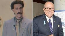 Sacha Baron Cohen as Borat Posts Video 'to Defend' Rudy Giuliani After Borat 2 Leaked Scene