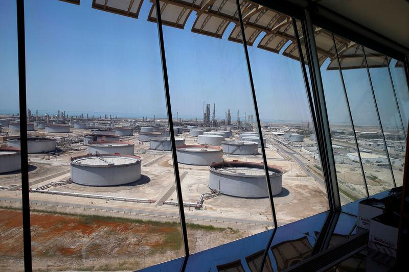 General view of Aramco's Ras Tanura oil refinery and oil terminal in Saudi Arabia