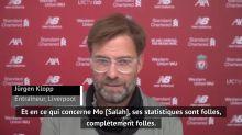"""35e j. - Klopp : """"Les statistiques de Salah sont complètement folles"""""""