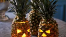 People are carving pineapples, not pumpkins, for Halloween this year