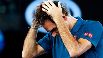Federer can't get past security at Aussie Open