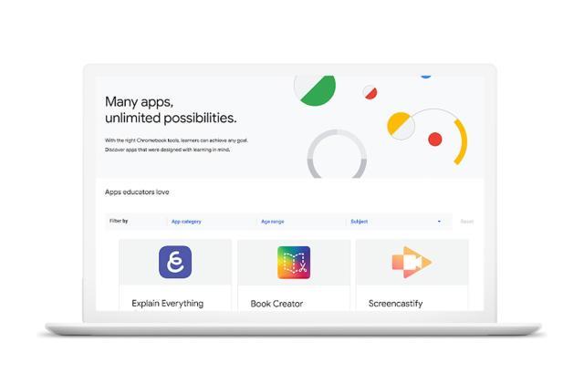 Chromebook App Hub gives teachers ideas for class activities