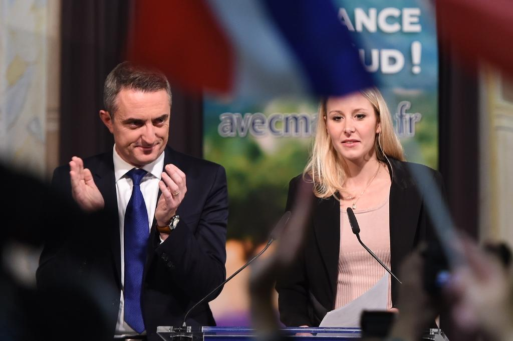 Marion Marechal-Le Pen, French far-right National Front party candidate in the Provence-Alpes-Cote d'Azur region, delivers a speech after the announcement of the results in the regional elections in Marseille (AFP Photo/Anne-Christine Poujoulat)