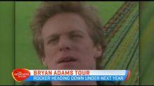 Bryan Adams set to tour Australia
