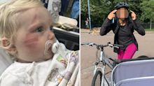 Mum furious after toddler 'hit and dragged' by cyclist