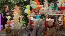 Gabi Brandt mostra decoração da festa de 1 ano de Davi