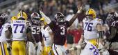LSU and Texas A&M play a 7-overtime game in 2018. (AP)