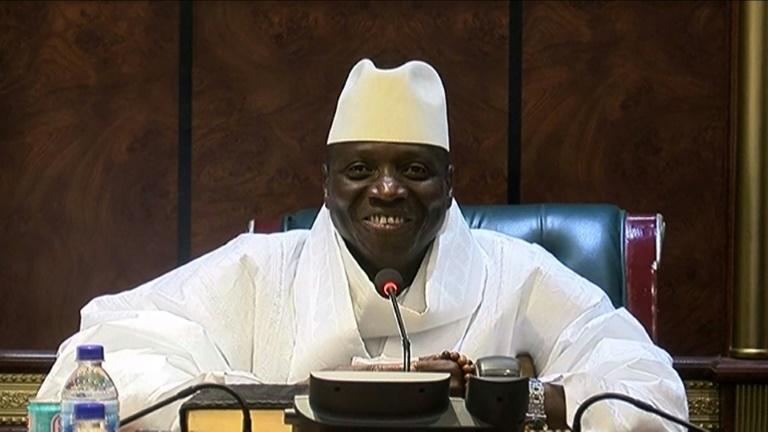 Jammeh ruled with an iron fist for 22 years -- he was forced out after losing elections in December 2016 (AFP Photo/Handout)