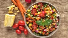 How to make chopped summer salad with sweet yuzu dressing
