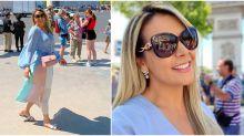 Look de R$ 31 mil e chinelinho grifado: os looks de Carla Perez na Europa