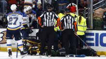 Blues' Jay Bouwmeester won't play rest of season after cardiac episode