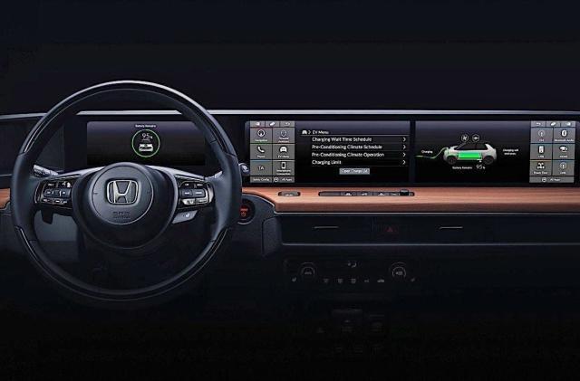 Take a peek at Honda's Urban EV dashboard