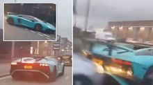 'Who's at fault?' The moment a $265,000 Lamborghini is rear-ended